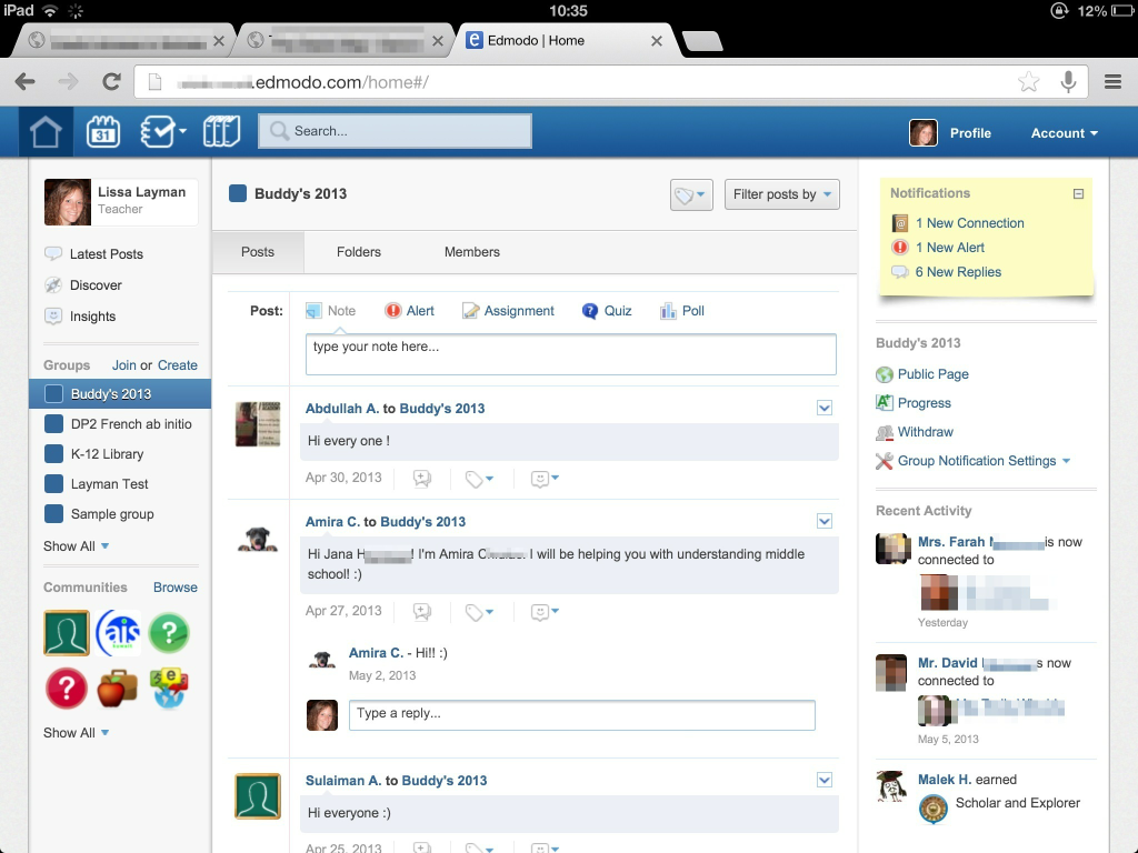 Edmodo buddy group