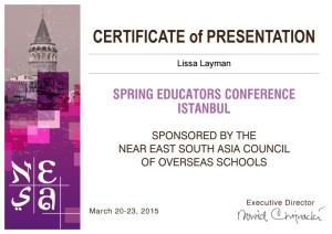 NESA SEC Certificate of Presentation